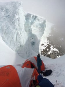 Among the seracs at Camp Two (6,050 meters)
