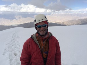 At the summit of Golep Kangri (19,620 feet)