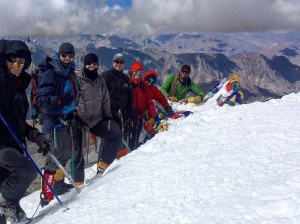 At the summit of Stok Kangri (20,187 feet)